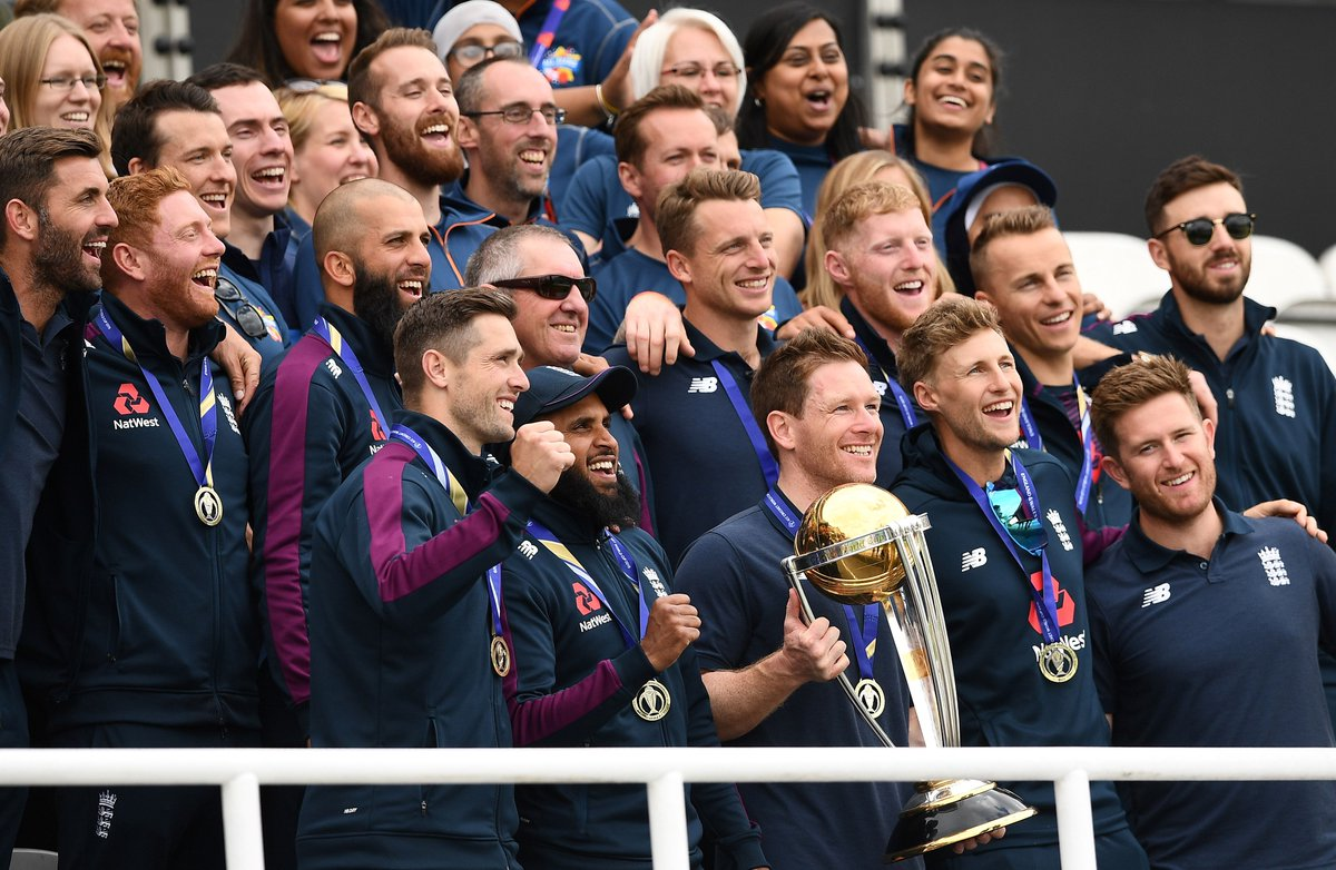 #WC2019WithTimes #CWC2019 #ICCWorldCup2019 #CWC19  England celebrates @cricketworldcup victory at The Oval  In Pics https:// bit.ly/2JyyLL0     <br>http://pic.twitter.com/iIXWC3oaZw