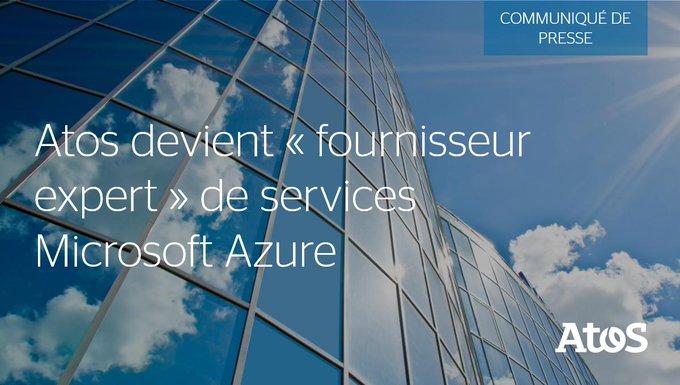 📣 #Atos devient « fournisseur expert » de services Microsoft Azure et...