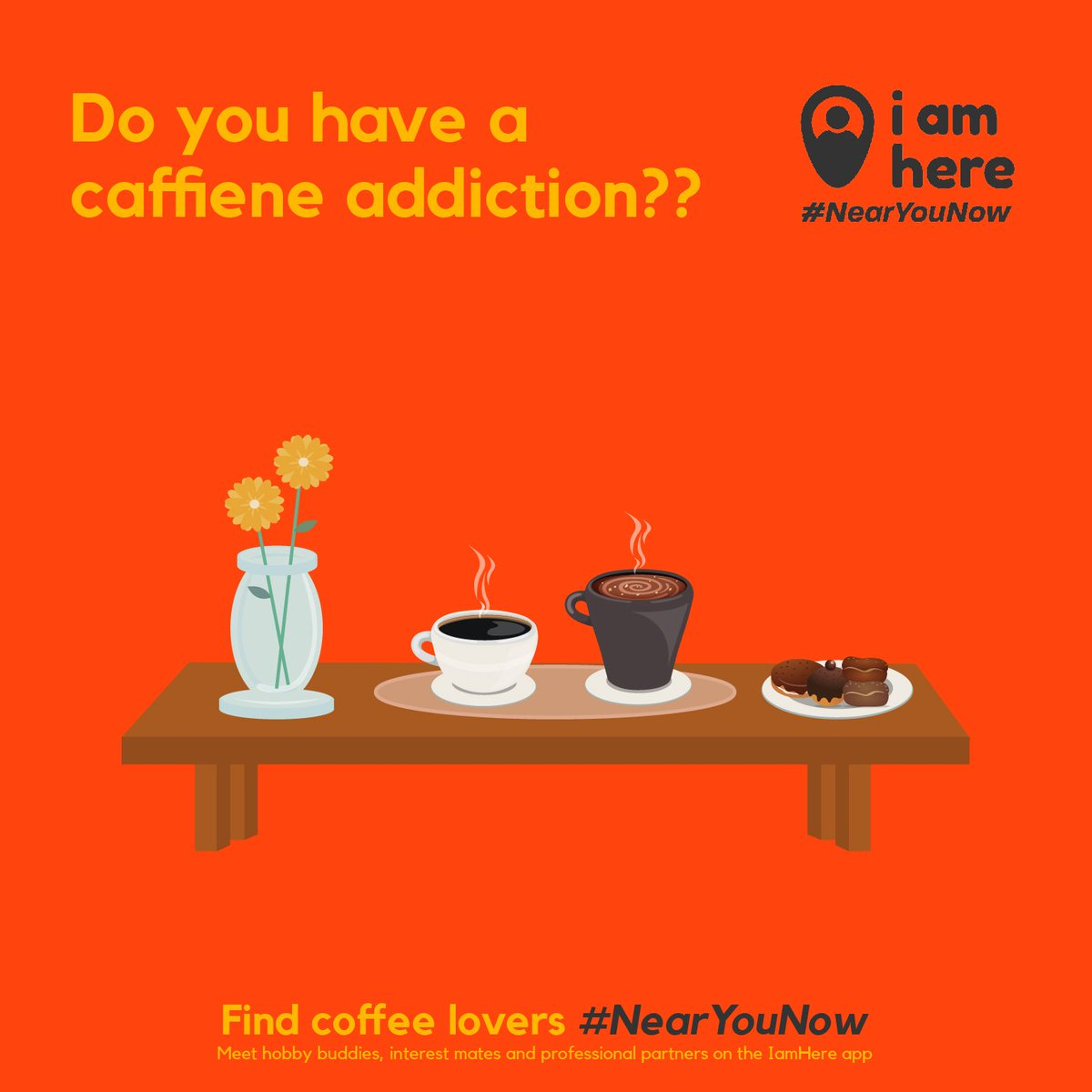 Connect with company over coffee!! Find fellow coffee lovers #NearYouNow on the IamHere app!! ☕☕ . Install the app to explore more #NearYouNow https://bit.ly/IamHereApp  . #iamhere #nearmenow #people #community #friends #neighbourhood #likemindedpeople #buddy