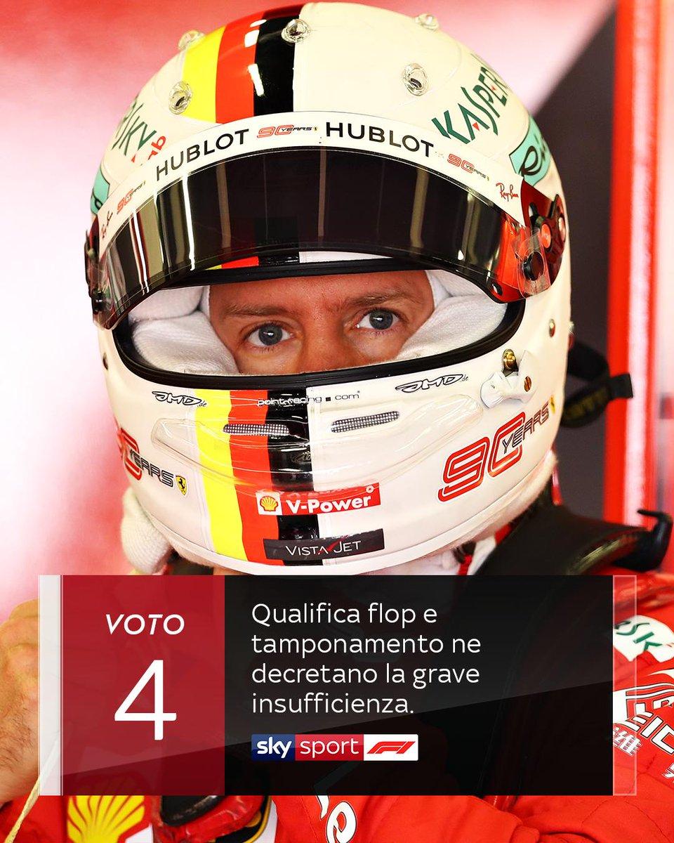 """✍ """"Ottima invece la prima parte di gara"""" ➡ http://bit.ly/Silverstone-Pagelle…   😮 Non solo ombre nel suo #BritishGP  ❌ ma Vettel non raggiunge la sufficienza 🤔 Siete d'accordo❓ #SkyMotori #F1 #Formula1"""