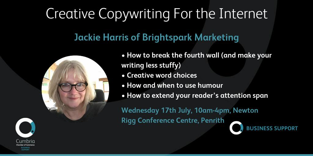 test Twitter Media - [Book fast - course is tomorrow!] Creative Copywriting For the Internet - with Jackie Harris of Brightspark Marketing on Wednesday 17th July at Newton Rigg Conference Centre. More information and instant online booking at https://t.co/i2xbWXKEtU https://t.co/Y9OAZOVPY3