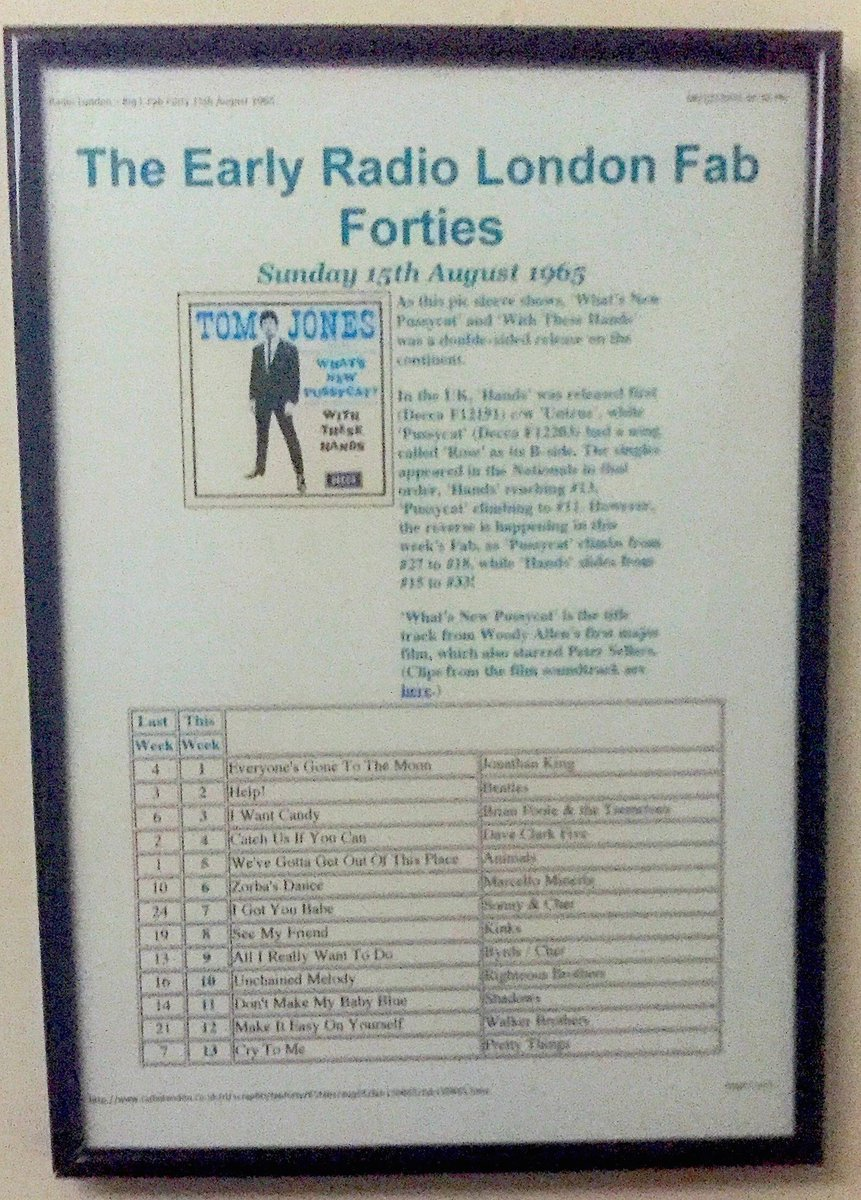 Kept the #Beatles off No1 in 1965...