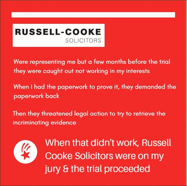 And then I had to face trial without case papers, without my right to call witnesses & as #HMCTS decided I was guilty before my proceedings began I had to face trial with a dodgy jury #RussellCooke #Solicitors  #AmnestyUK #BBCNews #Conservatives #RoyalFamily #Labour #Libdems