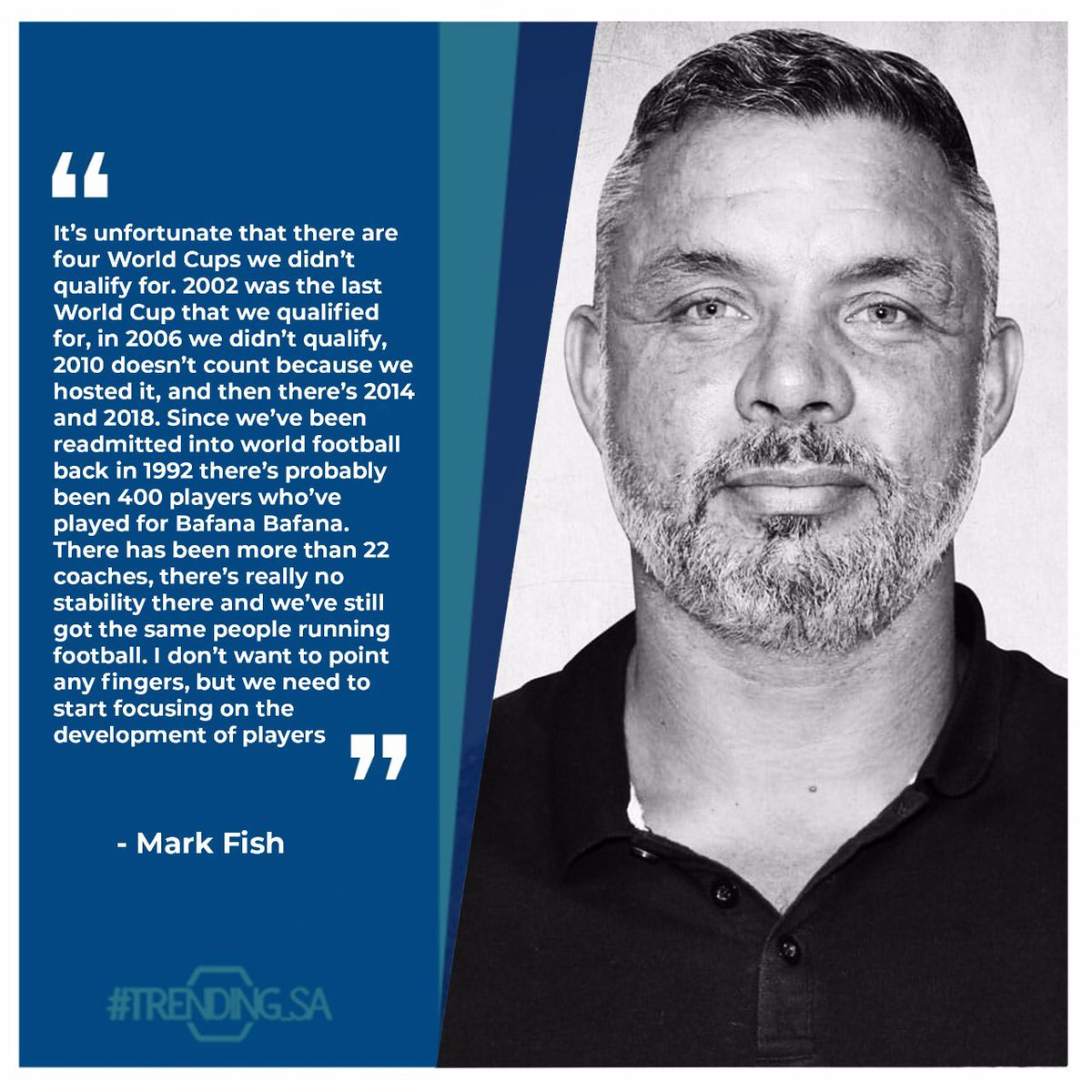 Soccer legend Mark Fish on his opinions about Bafana Bafana. #tsaonline #tsaon3