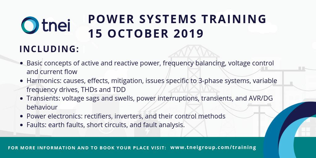Want to increase your #powersystems knowledge? TNEI are