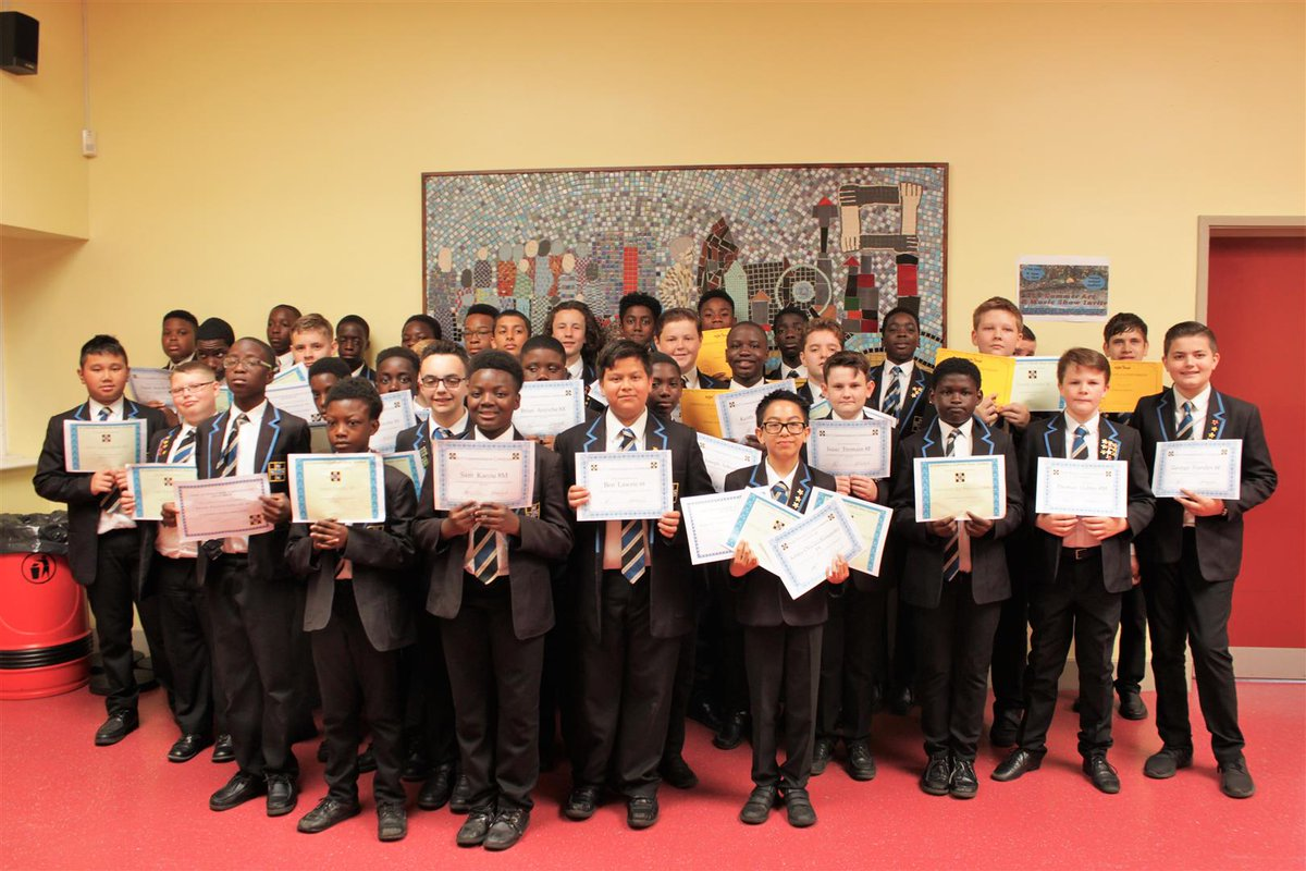 A few fewer pictures today to give you a breather, but it's   Yr 8 Commendation Assembly 1/6  Here's the whole group #WellDoneBoys