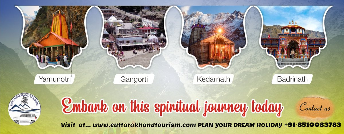 Book your #ChardhamYatra Tour Packages with eUttarakhand Tourism at best price and get exclusive deals on #ChardhamTour packages with #Helicopter, A/C #Volvo , & Private Vehicles, #HotelsBooking, #Meal. & #Sightseeing  Book Your Tour 👇👇👇👇 📱☎️ Phone No. +91-8510083783 ☎️📱
