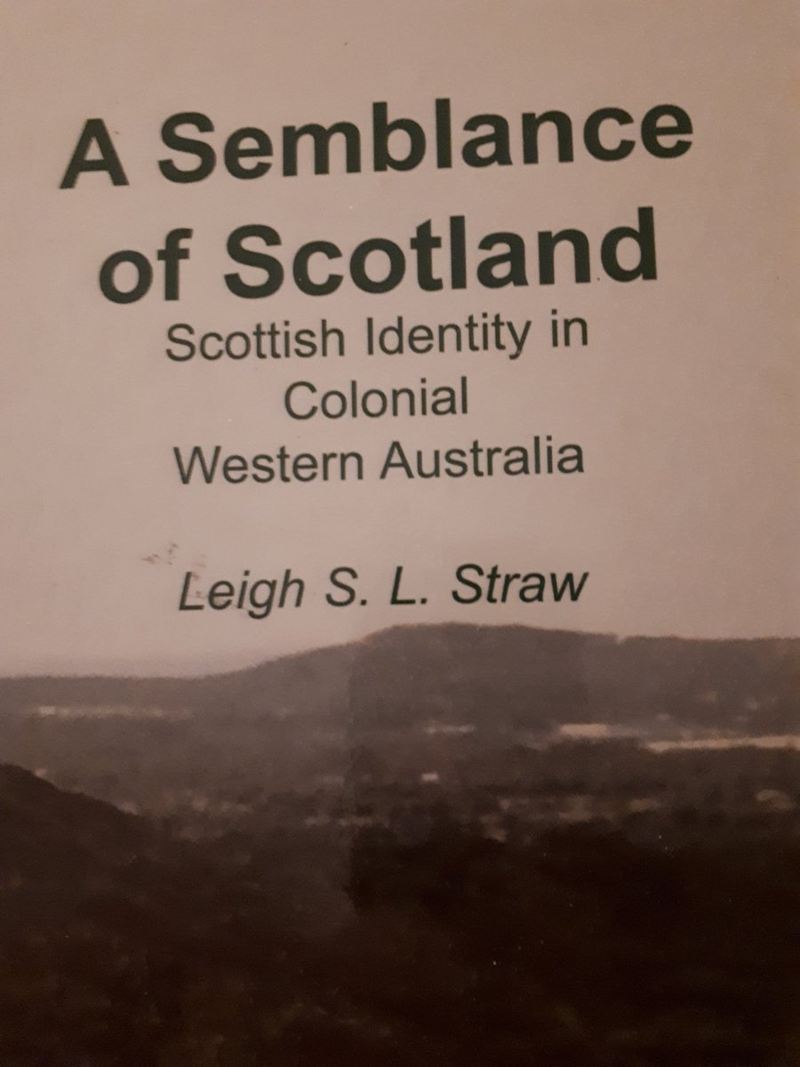 New book to read # Scots in #WesternAustralia @leighstraw