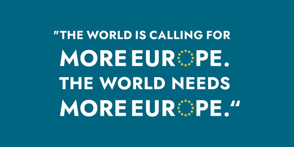 I believe #Europe should have a stronger and more united voice in the world – and it needs to act fast.