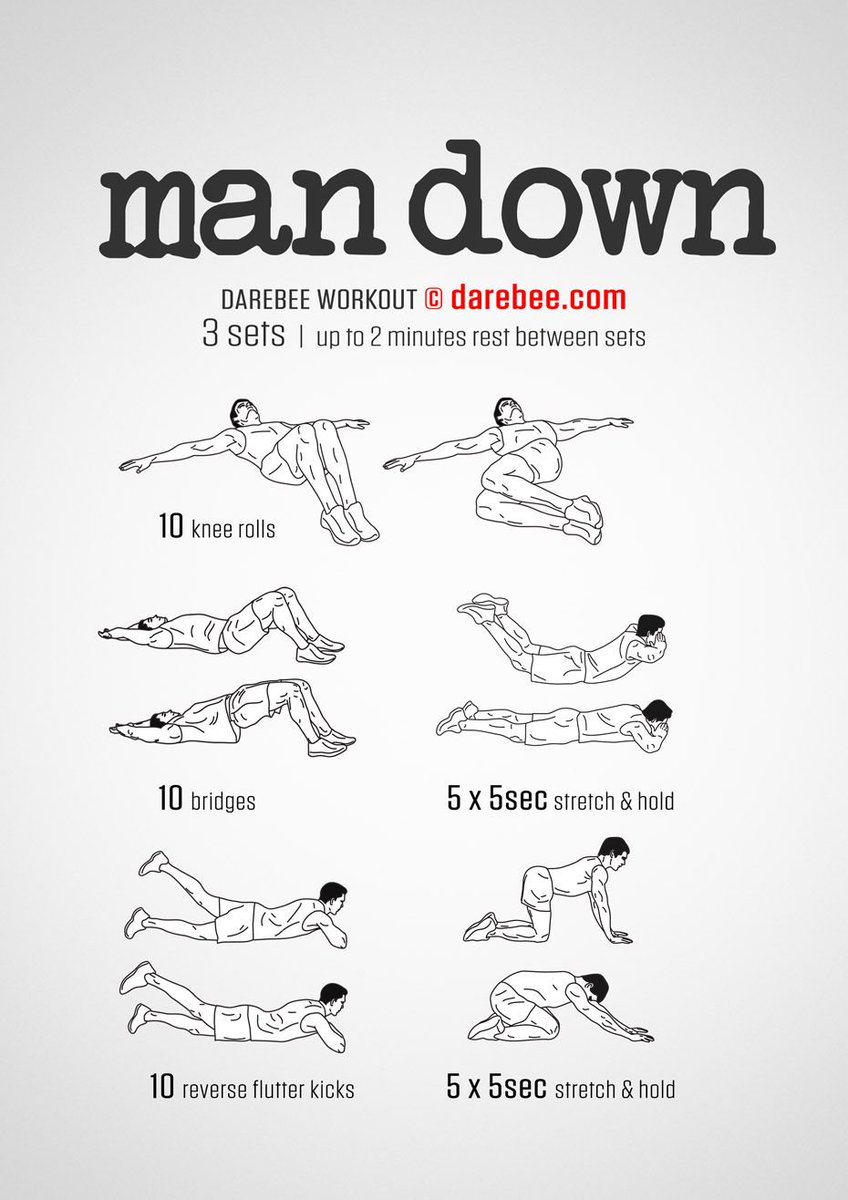 Workout of the Day: Man Down  https:// darebee.com/workouts/man-d own-workout.html  …   #darebee #wod #Stretching #workout #workouts #workoutmotivation #Training #exercise #fitness #fitnessjourney #FitnessMotivation<br>http://pic.twitter.com/YBEeKLDz5X