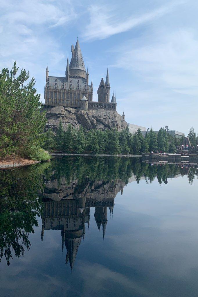 城を見ながら優雅に軽食… #ユニバーサルスタジオジャパン  #USJ #ハリーポッター