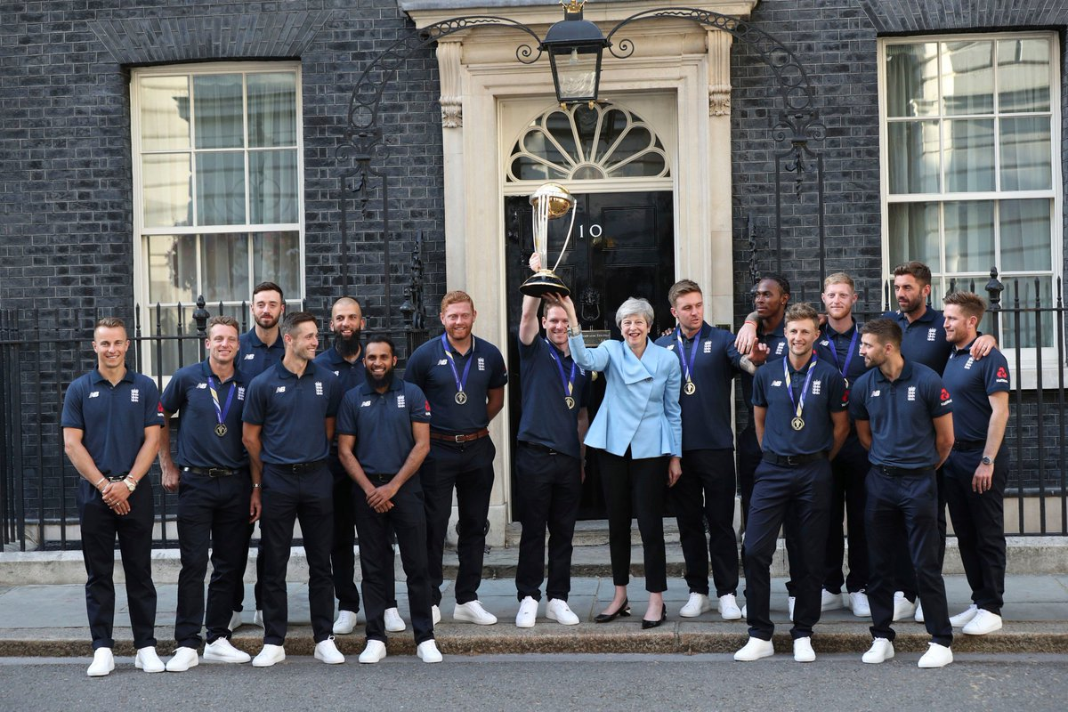 #WC2019WithTimes #CWC2019 #ICCWorldCup2019 #CWC19  Victorious @englandcricket  team meets PM Theresa May  In Pics   https:// bit.ly/30z7VI9     <br>http://pic.twitter.com/rQh1ZU79SB