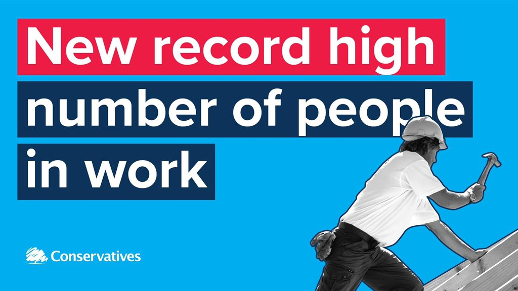 NEW 🌟 Wage growth is now at 3.6% which is the highest growth rate for more than a decade. 🌟 A record high of 32.75 million people are in employment. 🌟 The unemployment rate has not been lower since 1974. That's the @Conservatives record