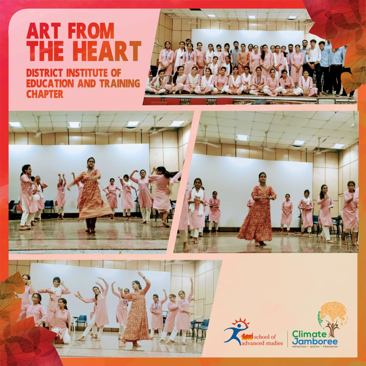 We are thrilled to announce the Art from the Heart chapter  launched at the District Institute of Education and Training, R K Puram. This collaboration is supported by State Council of Educational Research and Training, New Delhi.#art #heart #dance #sustainability #youth #climate