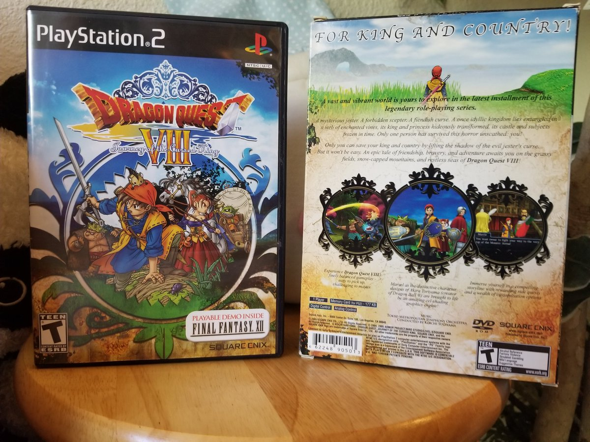 #PS2sday #Playstation2  For many of us, this was our first foray into the Dragon Quest universe. And what an introduction it was!  Dragon Quest 8 remains my personal favorite, perhaps due to nostalgia, or perhaps bc it is a classic gem that withstands the test of time. 🐲👑