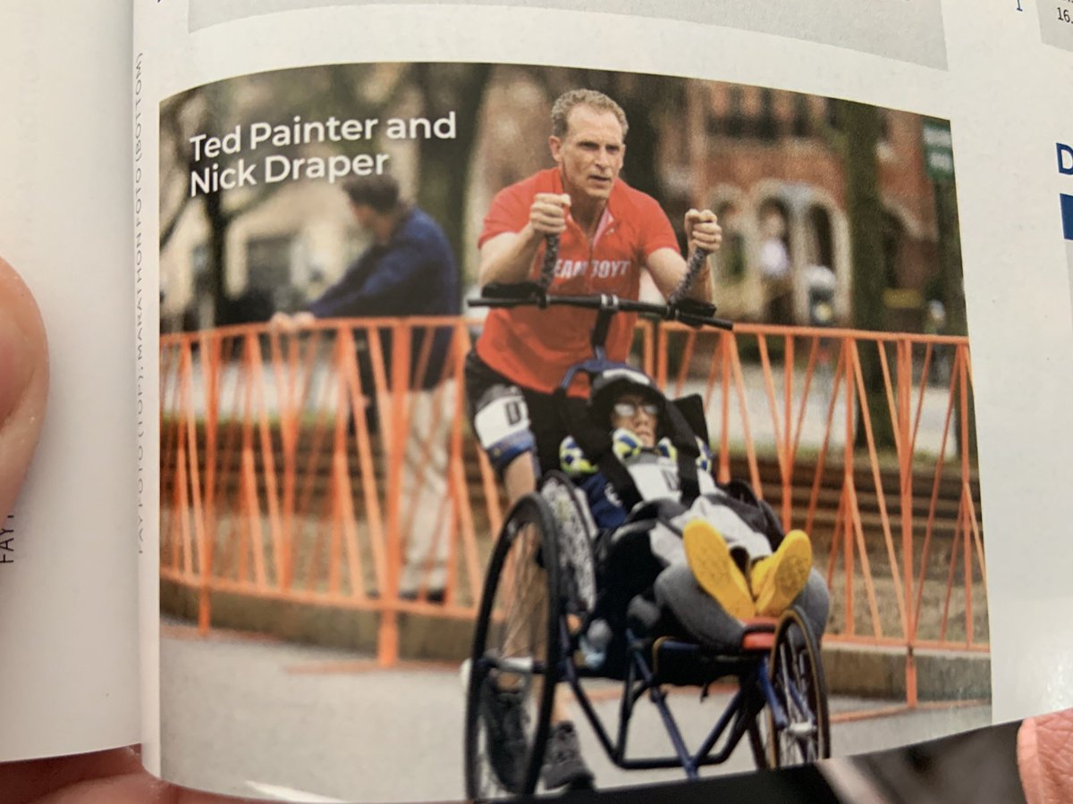 Proud wife moment! Ted and his disabled running partner Nick made it into the 123rd Boston Marathon Racers Record book taking first in the duo division  with a PR of 2:54:47! #disabled #bostonmarathon @bostonmarathon<br>http://pic.twitter.com/GHMYyEVen0