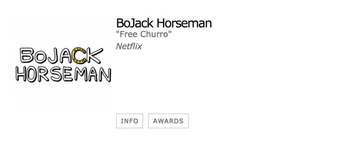 It's about damn time! Congratulations to @RaphaelBW and everyone at #BoJackHorseman on the Best Animated Series nod! <br>http://pic.twitter.com/vFsyNgShh7