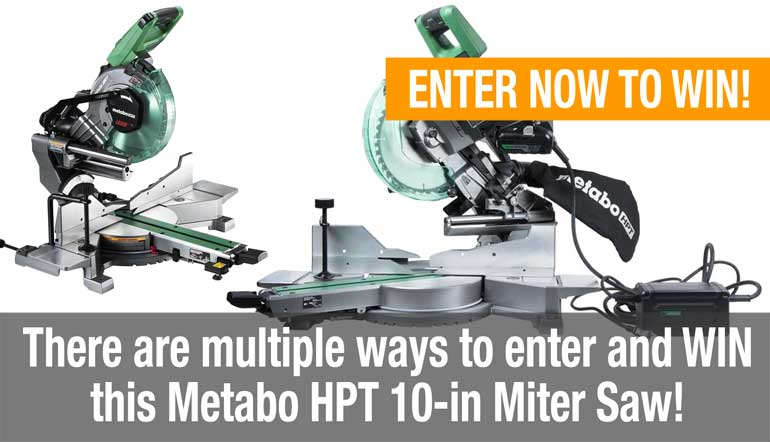RT @ProToolReviews: Our latest #TOOL #GIVEAWAY is here - #enter #today to #win this @MetaboHPT_USA 10-Inch Miter Saw! Just click on this li…