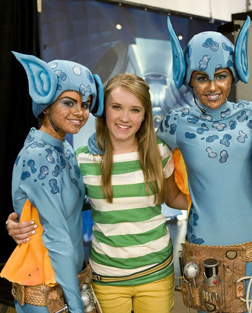 @emilyosment after she has freed @MileyCyrus and @selenagomez during the Area 51 raid x