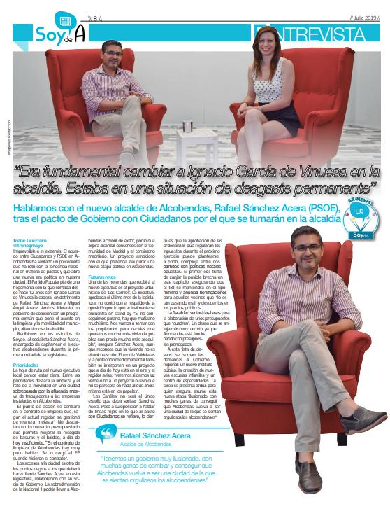 Comparto esta entrevista de @SoydAlcobendas con toda la actualidad del nuevo gobierno de #Alcobendas 👇