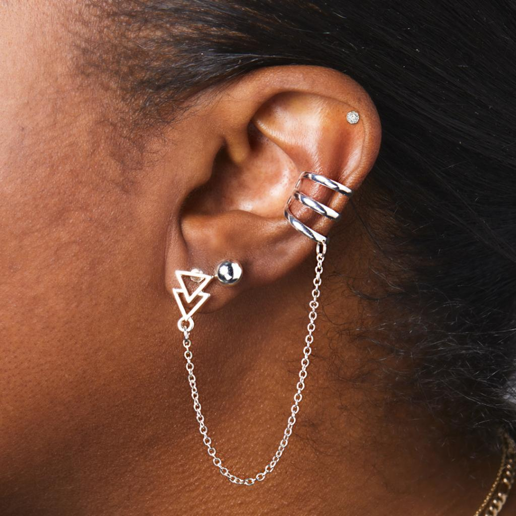 Create An Edgy Look By Layering Up Your Earrings Make