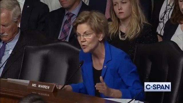 Elizabeth Warren tears into Mark Esper after he refuses to extend his recusal from Raytheon, his former employer. You cant make those commitments to this committee, that means you should not be confirmed as Secretary of Defense.
