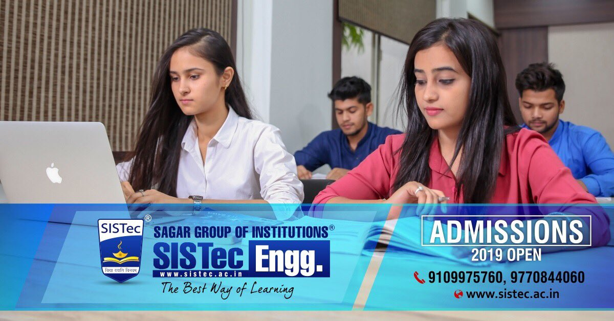 #SagarGroupofInstitutions #SGIBhopal  #SISTec: The #Best #Place for #Learning and an Ultimate Gateway to Placements...  #Admission Open for #Engineering (B. Tech)  #Visit: http://sistecr.ac.in   #EngineeringCollege #AdmissionOpen #NewSession #DirectAdmission #DTE #RGPV #MP