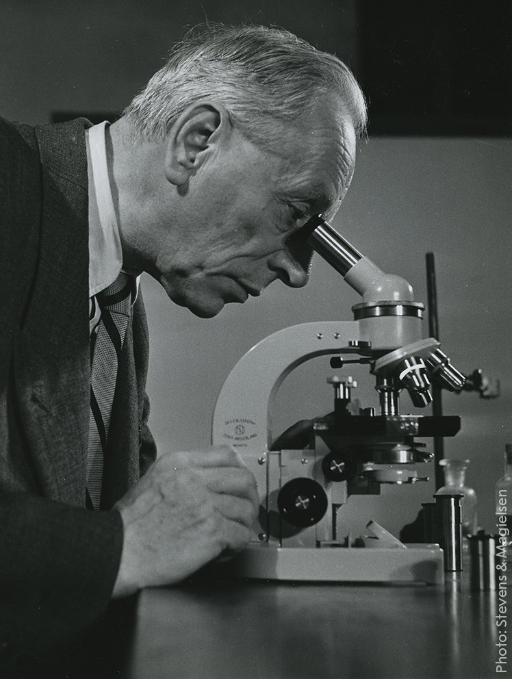 Remembering the inventor of the phase contrast microscope: Frits Zernike, born on this day 131 years ago. The phase contrast microscope became important in the study of living cells. Zernike was awarded the 1953 Physics Prize for his invention.  Photo courtesy: @univgroningen