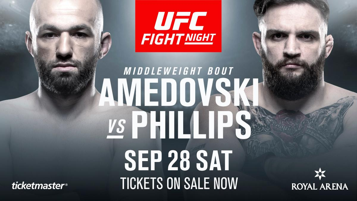 Wales stand up! @JohnPhillipsMMA and Alen Amedovski are official for #UFCCopenhagen  🎟 http://bit.ly/2laVvXI