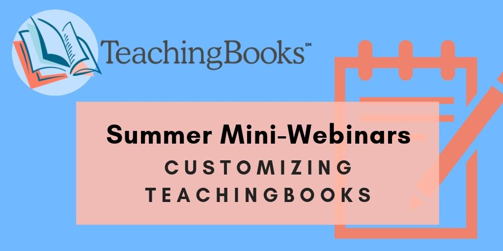 test Twitter Media - Learn how customizable features on TeachingBooks can simplify your instructional planning!   Curation of support materials is now easier than ever! In this 15-minute demo, we'll show you how to create lists and lessons in your educator account.   Sign up: https://t.co/LhuCO8lwsB https://t.co/eKSmDL7SqN