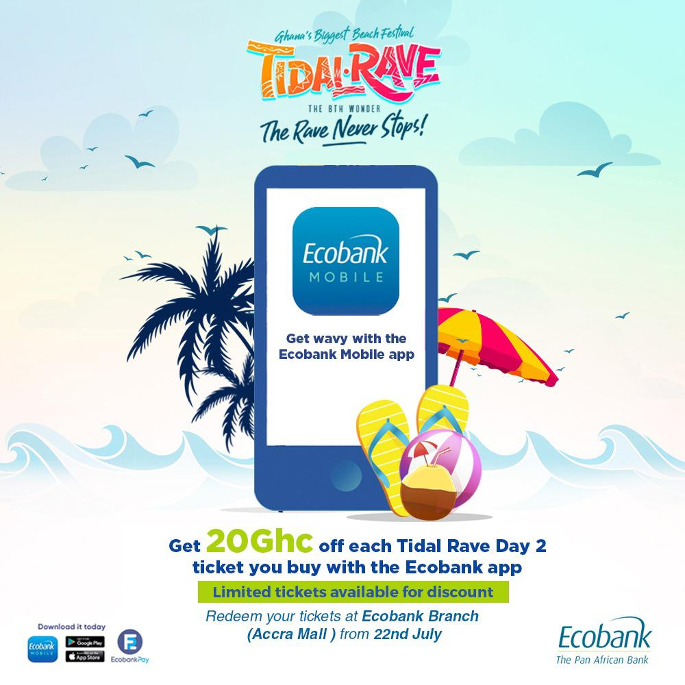 Ecobank Has Been Announced As Sponsors For Tidal Rave And