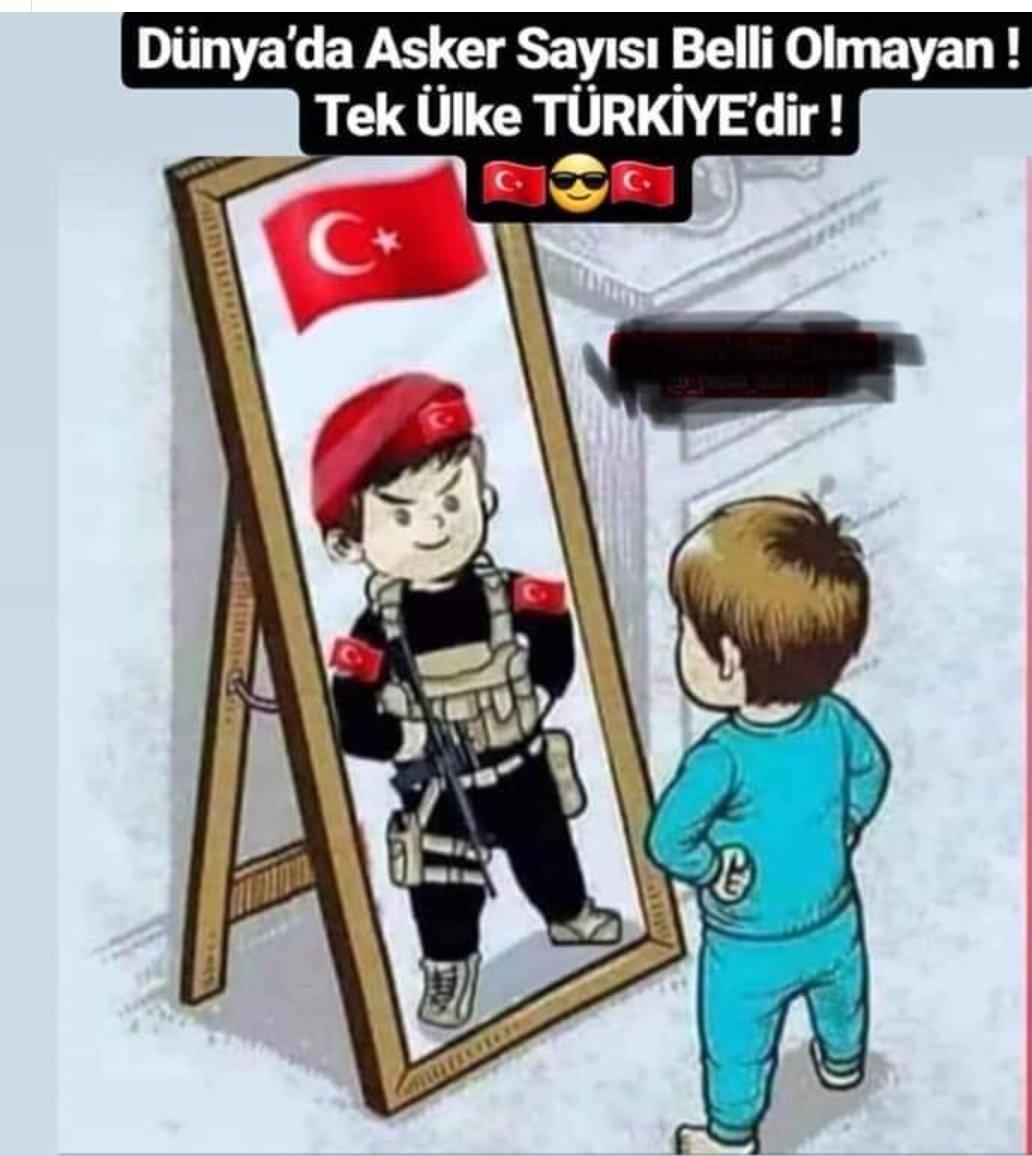 Dünyada, asker sayısı belli olmayan tek ülke Türkiye'dir..  @CPasaHasan