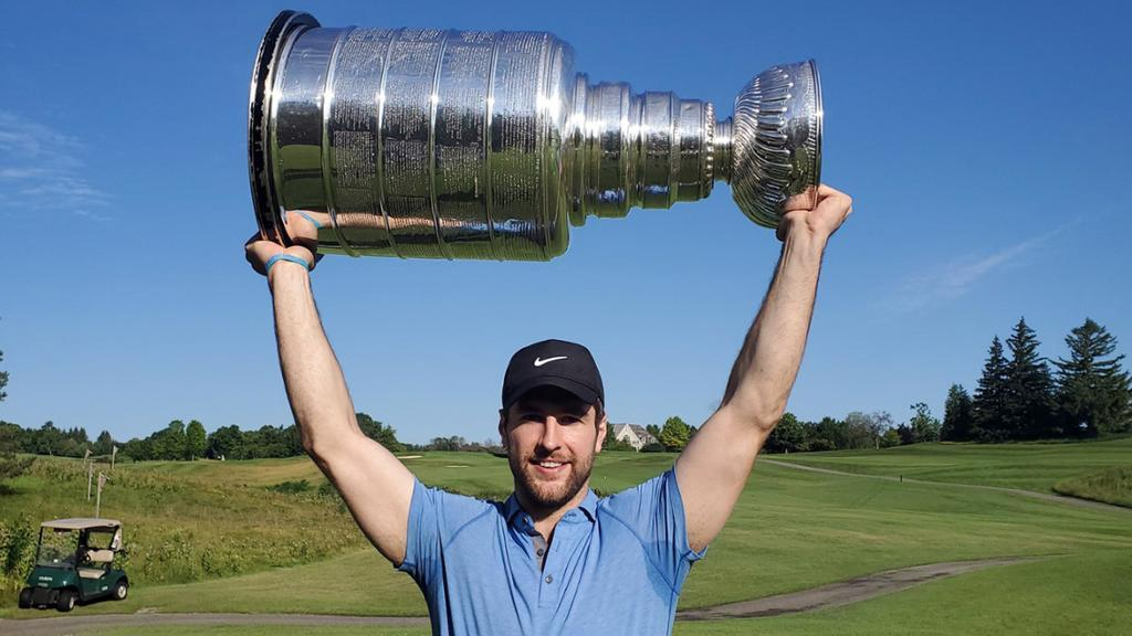 ICYMI: @StLouisBlues captain Alex Pietrangelo's day with the @StanleyCup included golfing, Nona's pasta an excited set of triplets. http://bit.ly/2lJt6bB #StanleyCup