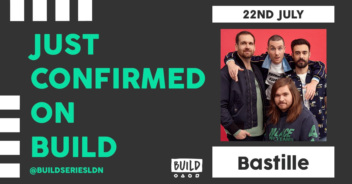 JUST CONFIRMED 😱 The legends that are @bastilledan will be joining us NEXT TUESDAY 😱 #Bastille Tickets still available ➡️ applausestore.com/book-build-201…