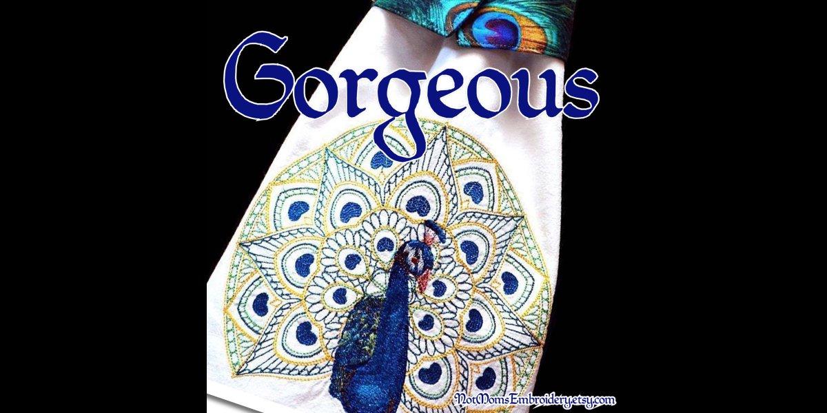 RT @HandbagsByDyana: Peacock Kitchen Towel, DishTowels, Kitchen Towels, Dish Drying Towels, Peacock Decor, Hostess Gift, Kitchen Gift (Option for NAME & BELT) http://www.etsy.com/listing/623339286/… peacock hangtowel kitchentowel #Pottiteam #etsy handmade embroidered p…