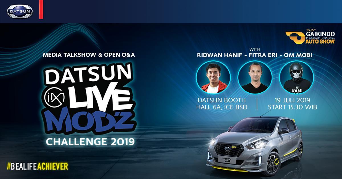 Hasil gambar untuk Datsun Live Modz Challenge 2019