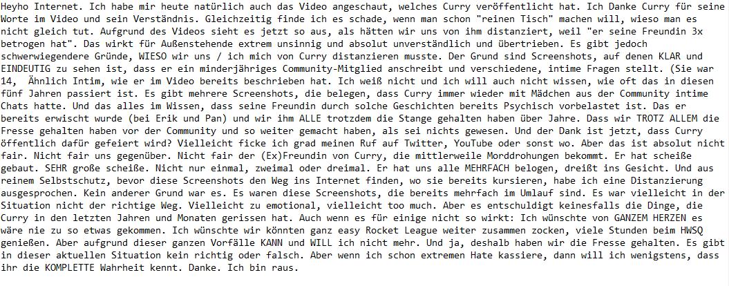 Herr currywurst statement