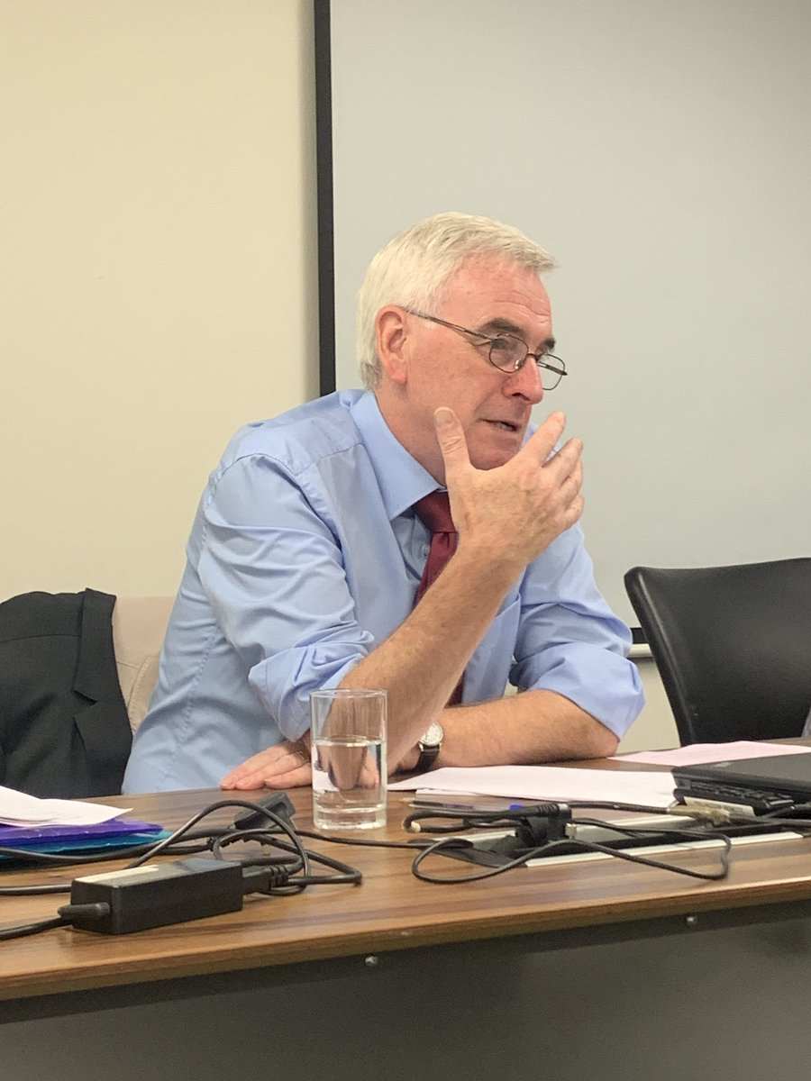 Good positive presentation by Shadow Chancellor @johnmcdonnellMP to the National Pensioners' Convention  @NPCUK Executive Committee this afternoon on addressing the challenges facing millions of Pensioners after 9 years of austerity #LabourParty