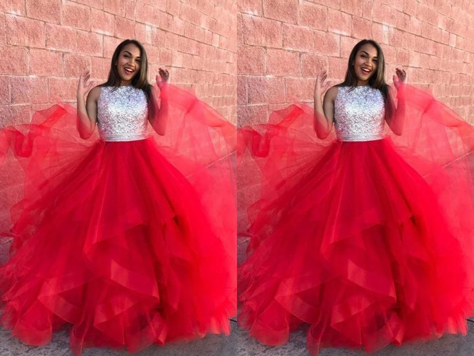 #Charming #Red #BallGowns #Organza #Ruffle #Sequin #Top #PromDresses #PFP0057 Get  more details  here-->>https://www.promfast.com/products/charming-red-ball-gowns-organza-ruffle-sequin-top-prom-dresses-pfp0057 …