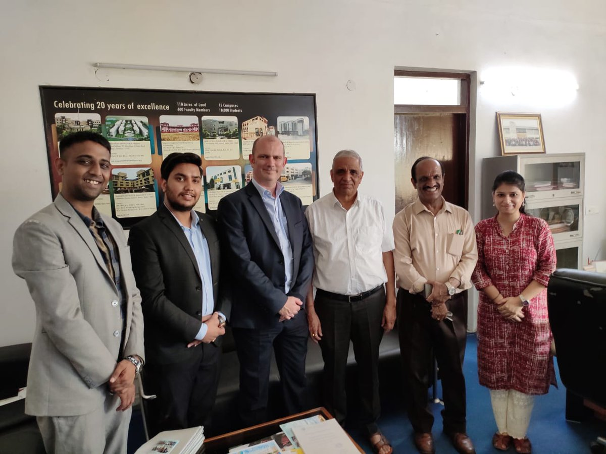 A great meeting today to @Jagannath_Uni discussing the next steps in 8 of their b.voc degrees gaining the UKSF quality mark with the support of @isdc_global. On the drive got to see some of rural India as well ##bvocdegrees #skills #longdayforsome😉