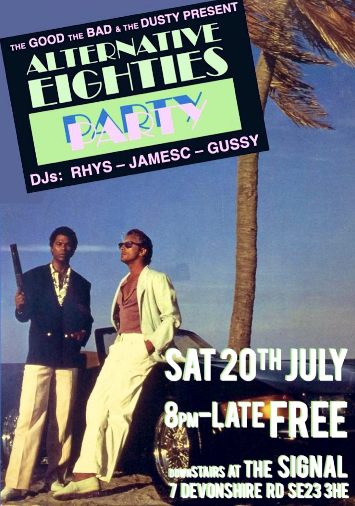 This Saturday night playing alternative 80s set @SignalSE23 in #ForestHill expect classic b-sides, weirdo 80s jams & chilled vibes 😎                   #se23 #disco #goodtimes #records #lewisham #80s #alternative #vinylonly #saturday #free #party #oldies