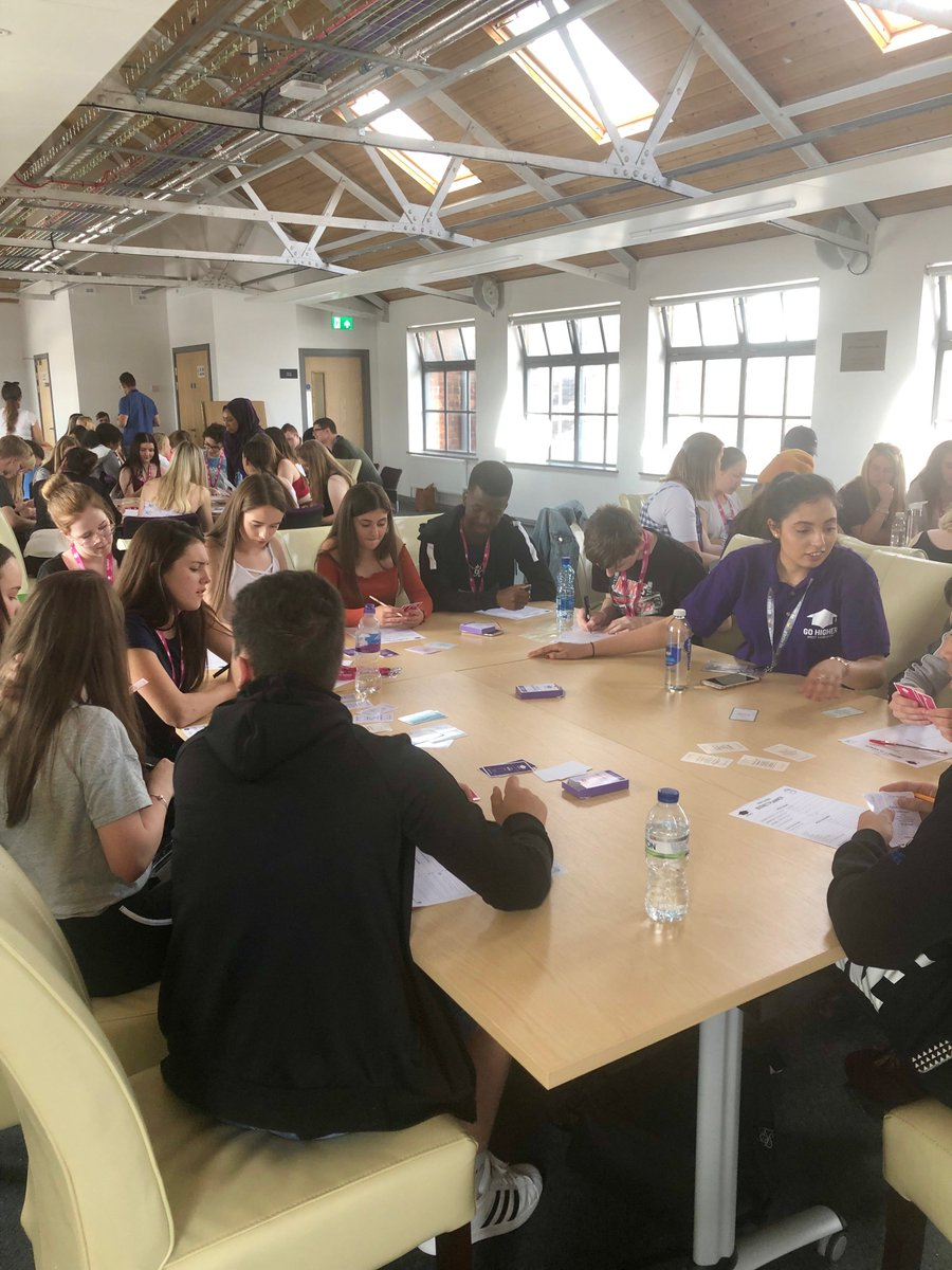 Students on the @GoHigherWY Summer School are at @leedscitycoll learning about student finance and budgeting. Competitive spirit is in full force! #NCOP
