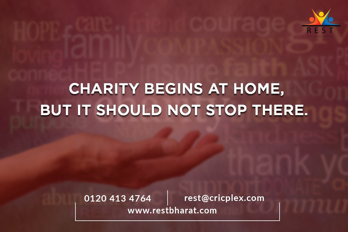 A charitable heart is the one that is helpful and kind for everyone. Helping the needy is also an amazing gesture. At REST, we believe in lending out our resources to the unprivileged section of the society.   For More Visit us at👉 http://restbharat.com  #REST #Education
