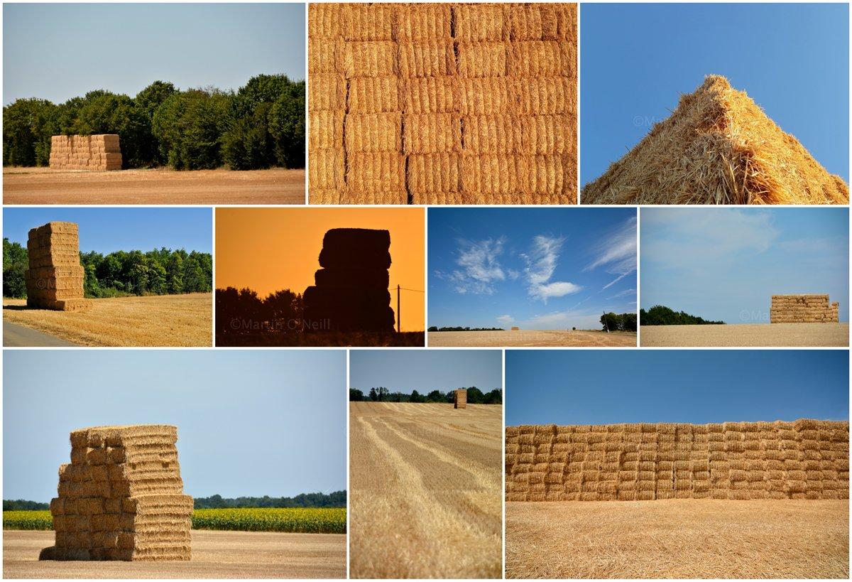 Giant Haystacks! #France #farming #haystacks #harvest #fields #summer #wrestling #Gianthaystacks