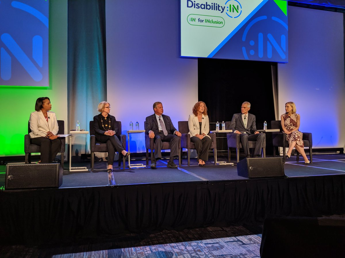Love learning from @AmyFuller  @TedKennedyJR @CathyBessant @marnelevine and the rest of this great panel at @DisabilityIN