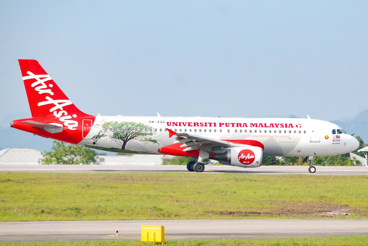 Universiti Putra Malaysia Livery ©️🇲🇾AirAsia 🆔9M-AQD ✈️Airbus A320-216 🛬Kuching International Airport-WBGG 📅09 JULY 2019 @AirAsia @malaysiaairports . #AirAsia #Airbus320 #9MAQD #speciallivery #airbusboeingaviation #airbus #kuchinginternationalairport #malaysiaairport #avgeek – at Kuching International Airport (KCH)