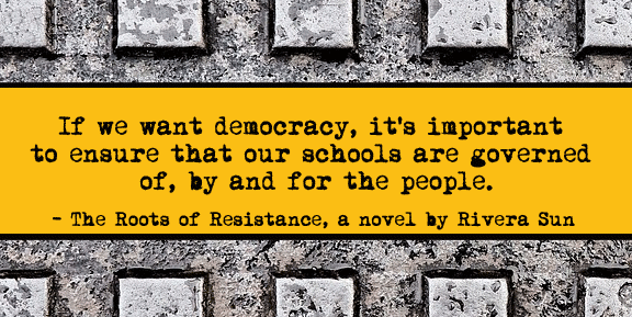 """""""Not here. Not us. Not our school...A public school is more than a set of buildings, it is a vital part of the community, a pillar of functional democracy.""""  So started the Roots of #Resistance at Idah Robbins school. More at http://bit.ly/2AqTUz9 #Education"""