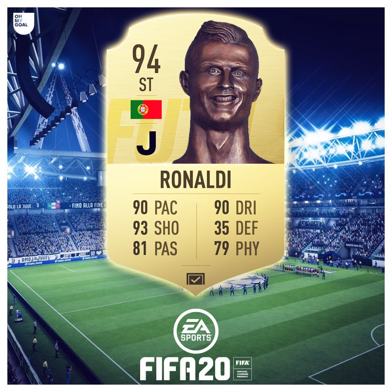 Oh My Goal On Twitter Ea Sports Have Announced That Juventus Will Not Be Licensed In Fifa 20 Here Is Ronaldo S Next Fut Card