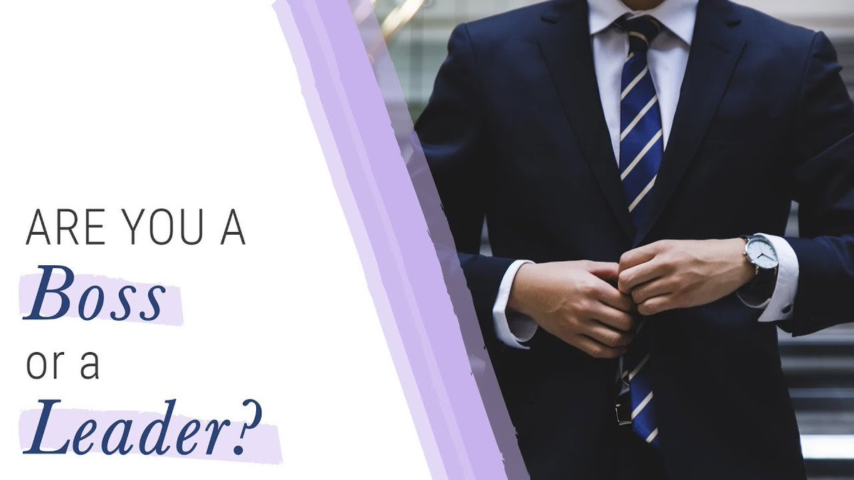 """""""Are you a 👣boss or are you a leader?"""" Check out this short video to see if you understand the difference Click here 👉 http://bit.ly/2N6pzkP 👈 #entrepreneurship #businessowner #motivation #inspiration #nevergiveup #dreambig #createbigger #success #happiness #leadership"""