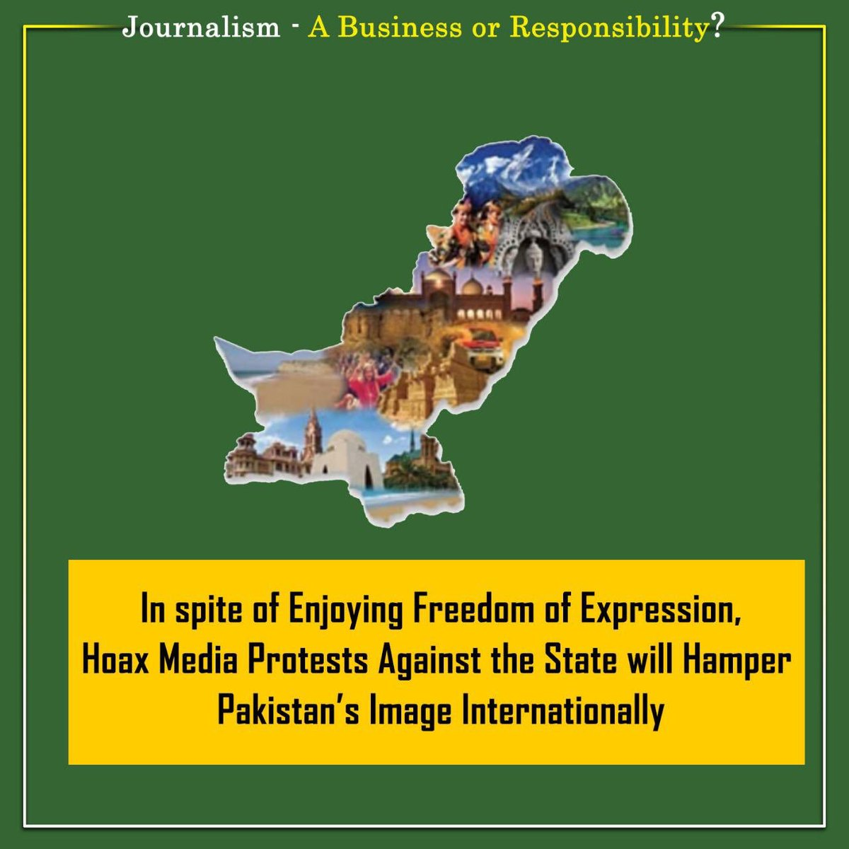 Media is often considered a pillar of state. It is sad to see certain media factions & seasoned journalists who also scrutinize Prime Minister Khan's personal life in the name of freedom of media later accuse the State for curtailing media freedom.   #JournalismNotAgenda